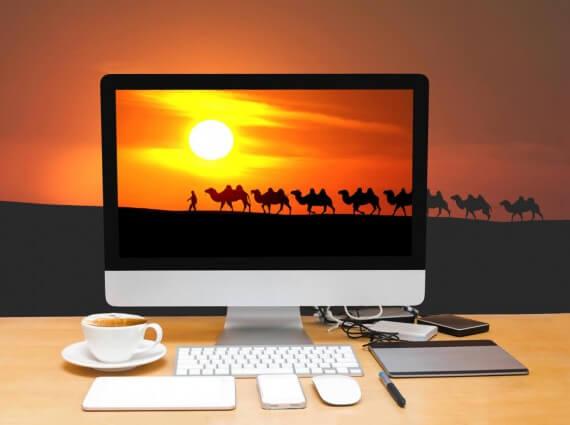 Three Wisemen through a computer screen