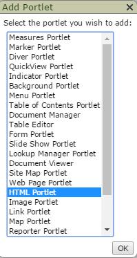 Diveport HTML Portlet